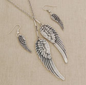 Angel of Twin Flame Necklace & Earrings Set