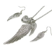 Angel of Manifestation Necklace & Earrings Set